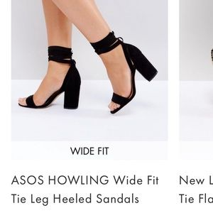 702c49650423 ASOS Shoes - Black ASOS Howling Wide fit Tie Leg Heeled Sandals